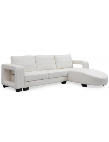 Canapé d'angle en simili cuir Matha Blanc 1194white