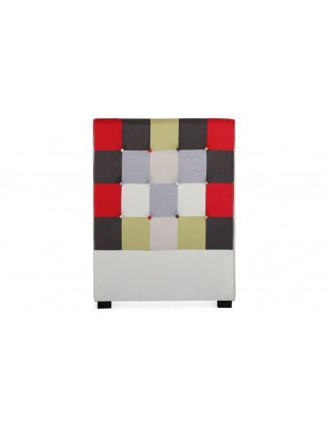 Tête de lit Luxor 90cm patchwork Rouge LF155PB90