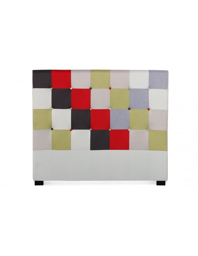 Tête de lit Luxor 140cm patchwork Rouge LF155PB140