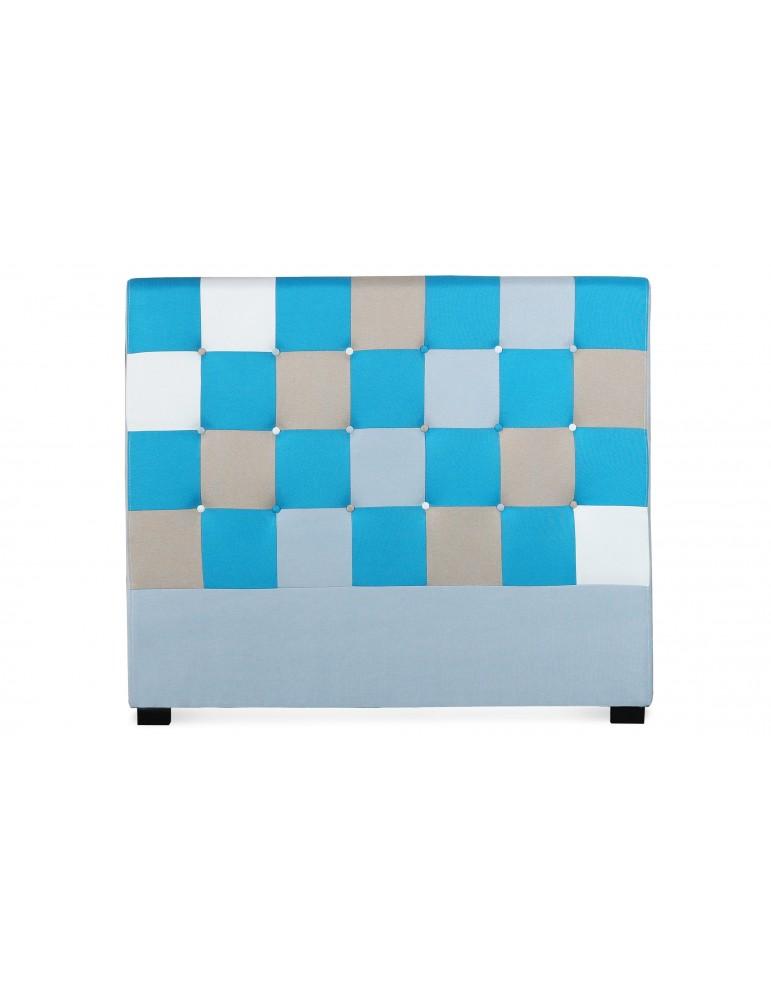 Tête de lit Luxor 140cm patchwork Bleu LF155PC140