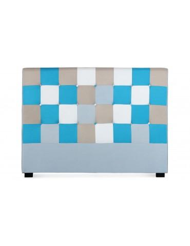 Tête de lit Luxor 160cm patchwork Bleu LF155PC160