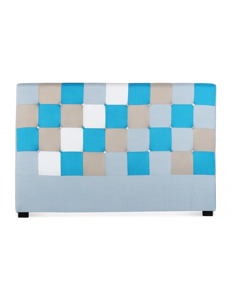 Tête de lit Luxor 180cm patchwork Bleu LF155PC180