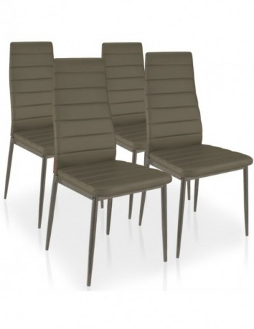 Lot de 4 chaises Stratus Taupe mlm112157taupe