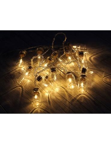 Guirlande lumineuse 16 LED à piles gris blanc ORIGIN IGU3954009Leblanc illumination