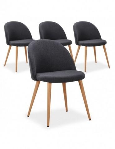 Lot de 4 chaises scandinaves Maury Gris Foncé dc5106darkgrey