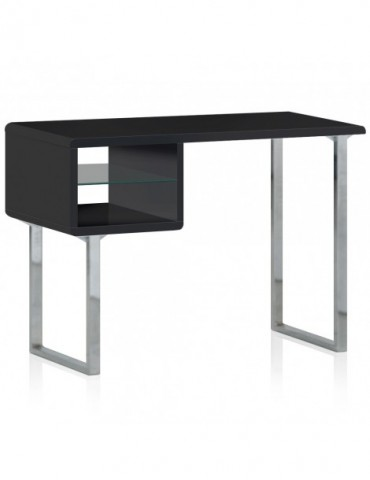 bureau bois laqu et inox model noir ks1897noir. Black Bedroom Furniture Sets. Home Design Ideas