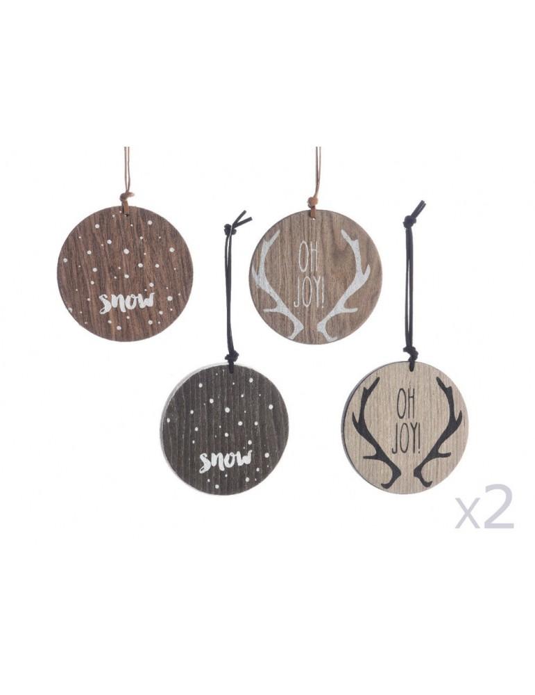 Suspensions rondes motifs et coloris assortis (Lot de 8) D.10cm BRUT DEO3705082