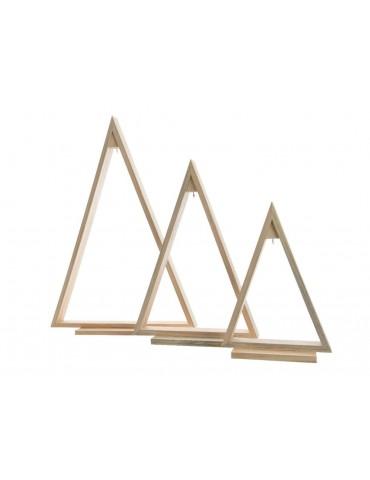 Set de 3 sapins en bois àposer crochet àsuspension - 3 tailles assortis BRUT DEO3705071