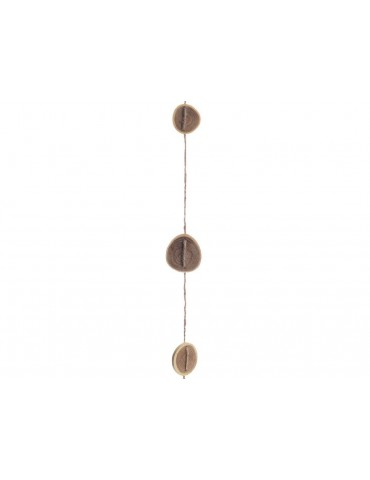 Guirlande décorative corde et rondelle de bois L.230cm BRUT DEO3705131