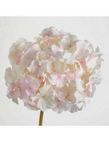 Fleur artificielle d'hortensia blanc/rose H.48cm NATURE DFL3208351Amadeus