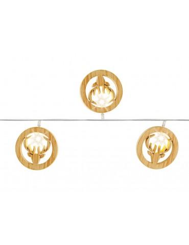 Guirlande LED déco tête de rennes en bois marron BRUT IGU3705046Lumineo