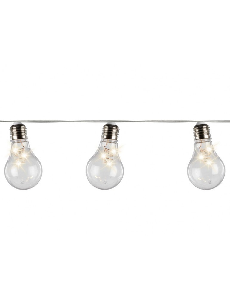 Guirlande LED déco ampoule transparent MANOA IGU3705045Lumineo