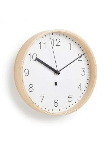 Horloge mural ou à poser en bois naturel D.25.4cm RIM DHO4374164Umbra