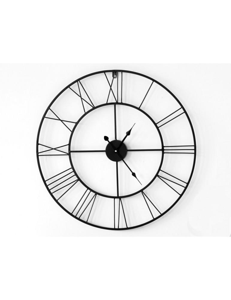 Horloge murale en métal ajouré noir D.80cm SAACAD DHO3345003Delamaison