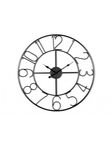 Horloge murale métal noir 80 cm SAACAD DHO3345004Delamaison