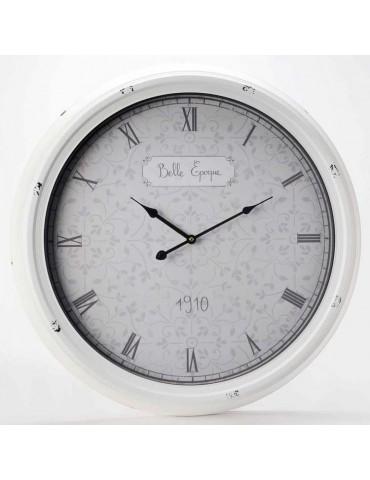 Horloge murale ronde en métal blanc D.62.5cm BELLE EPOQUE DHO3343102Amadeus