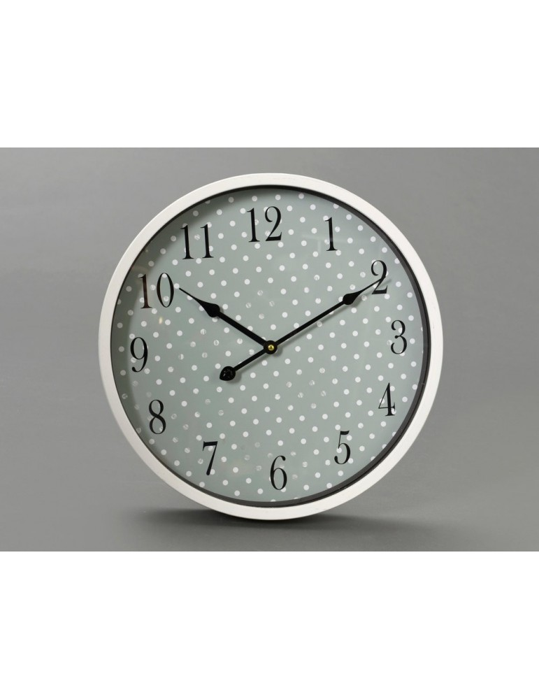 Horloge mural rond en métal motif pois D.40cm PEAS DHO3520008Amadeus