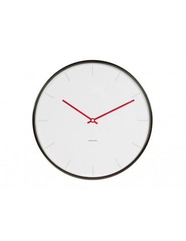 Horloge murale ronde en plastique blanc D.40cm THIN LINE DHO3632015Karlsson