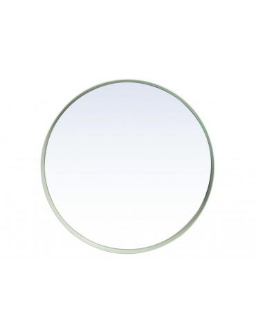 Miroir rond en métal blanc D.40cm KELLY DMI3769001Pomax