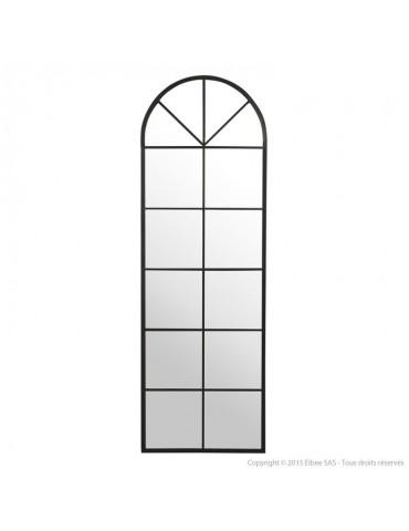 Miroir arcade grand format en métal noir 55x165cm PERRINE DMI2971009Delamaison