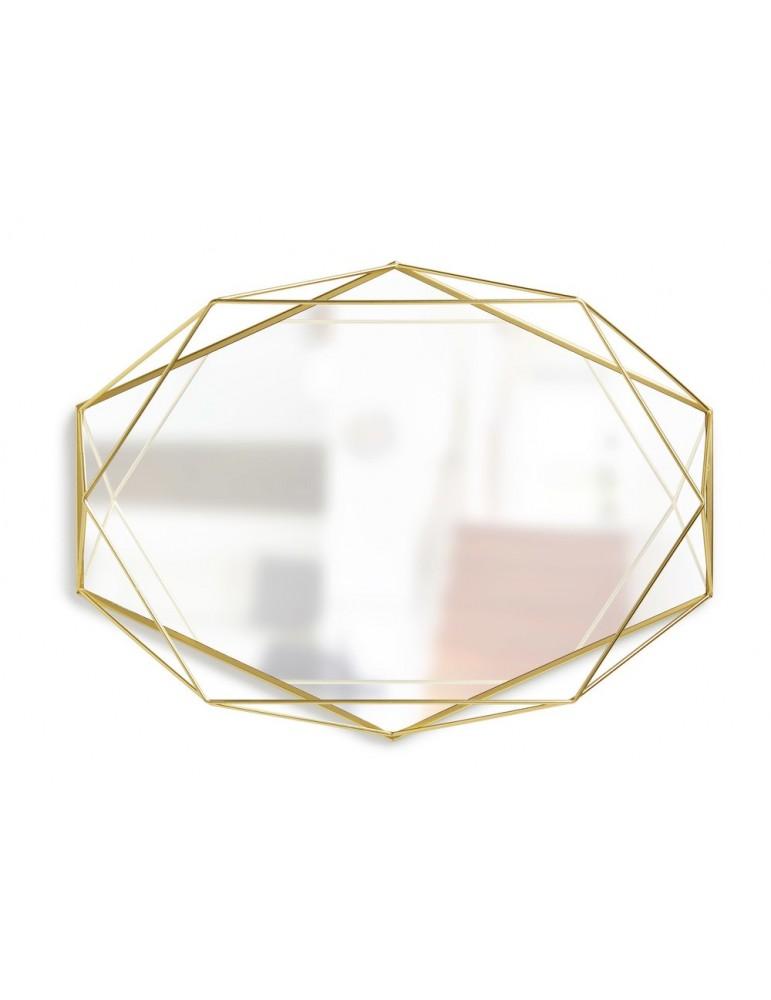 Miroir mural géométrique en métal doré PRISMA DMI4374162Umbra