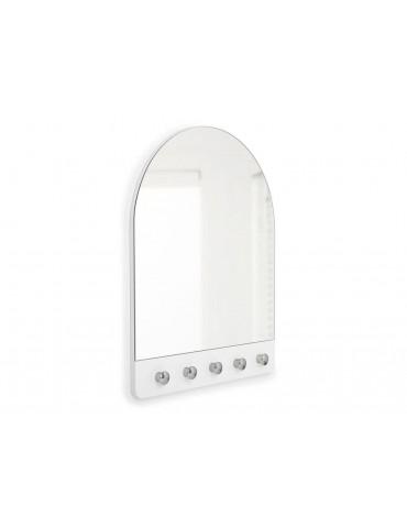 Miroir 2 en 1 en bois avec patère 5 accroches PEEK DMI3961016Umbra