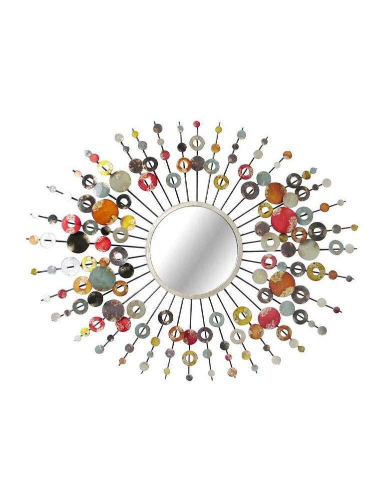 Miroir soleil mural en métal pastilles 68x89cm SPIRIT DMI3355015Emde