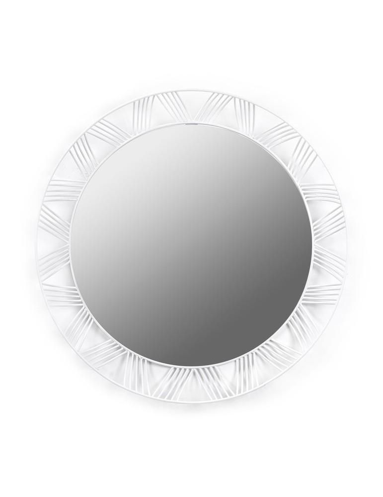 Miroir rond en métal ajouré blanc D.50cm FELICIA DMI3338114Serax