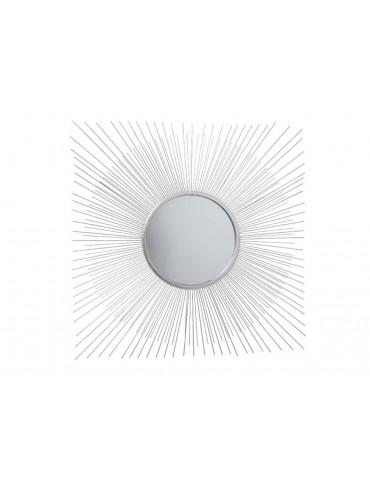 Miroir soleil en acier argent D.72cm LULLY DMI3889026Decoris