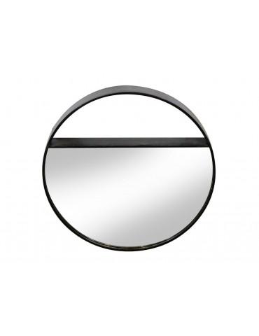 Miroir rond mural en métal noir mat MERIDIAN DMI3965004Red Cartel