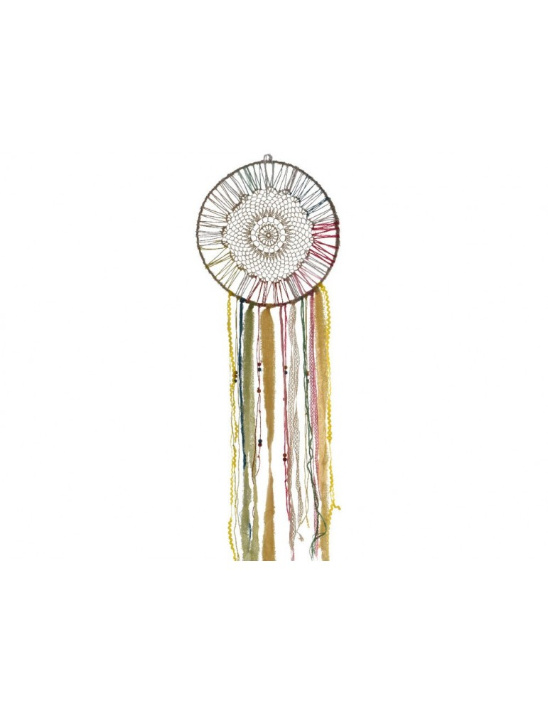 Attrape rêve en corde et perles AZAR DMR3491143Decoris