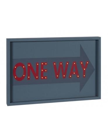 Cadre décoratif LED en bois One Way QUADRO DMR3566074Sphère Inter