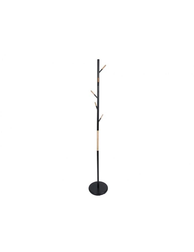 Porte-manteau en acier forme arbre noir et naturel FUSHION DPE3632044Present Time