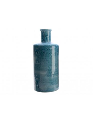 Vase bouteille en terre cuite bleu NOEH DVA3889069Decoris