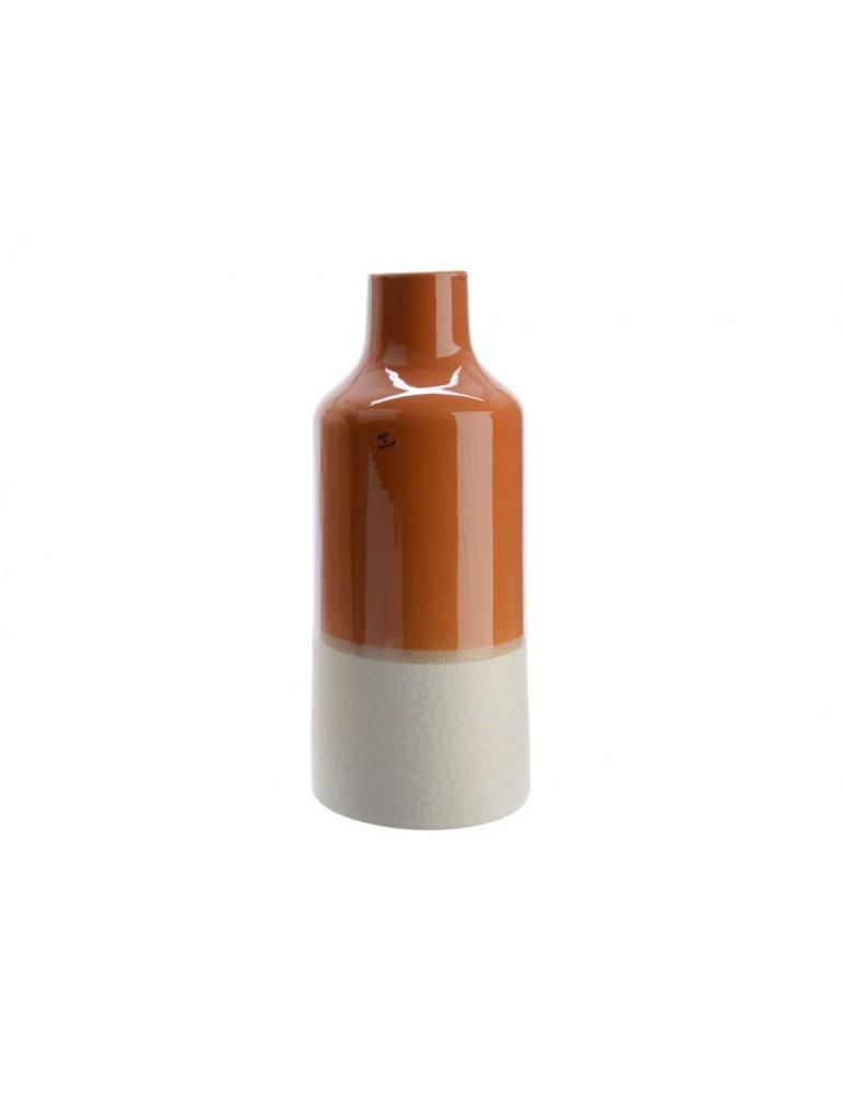 Vase bouteille en terre cuite marron FARIA DVA3889068Decoris