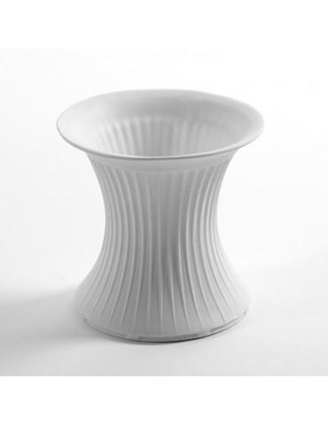 Vase en porcelaine blanc strié moyen POTT DVA3338111Serax