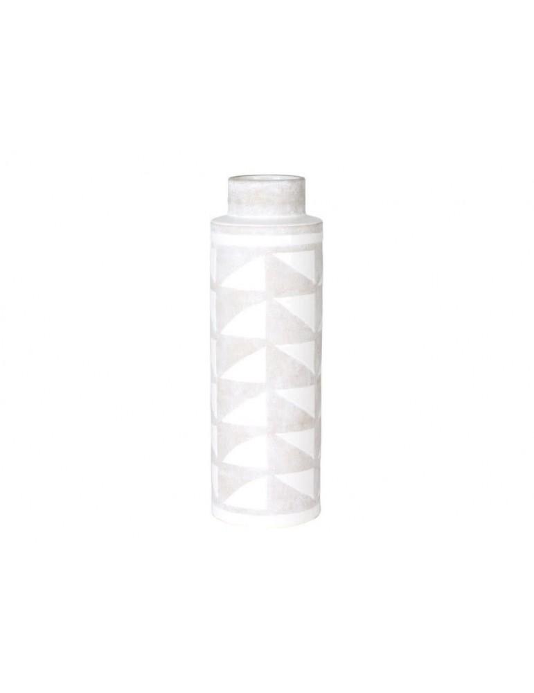 Vase en céramique taupe et blanc ethnique TOLTEQUE DVA3562097Table Passion