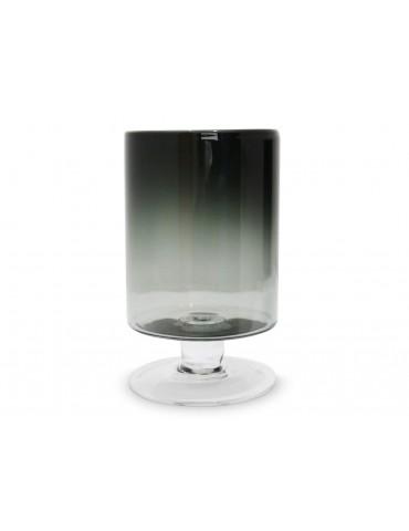 Grand vase photophore sur pied verre fumé gris TARA DVA3950029Pomax