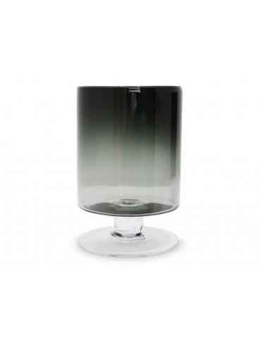 Vase photophore sur pied verre fumé gris modèle M TARA DVA3950028Pomax