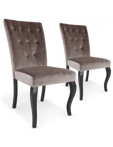 Lot de 2 chaises Beata Taupe xylot2taupe