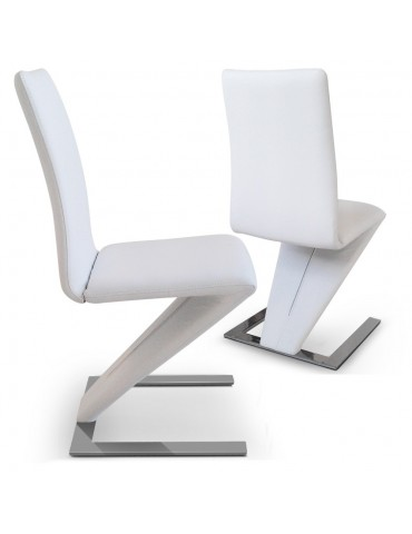 Lot de 2 chaises Flash Blanc Y820Blot2-Blanc