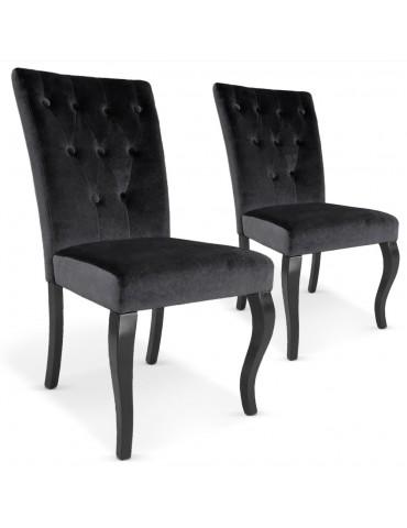 Lot de 2 chaises Beata Noir XYlot2-Noir