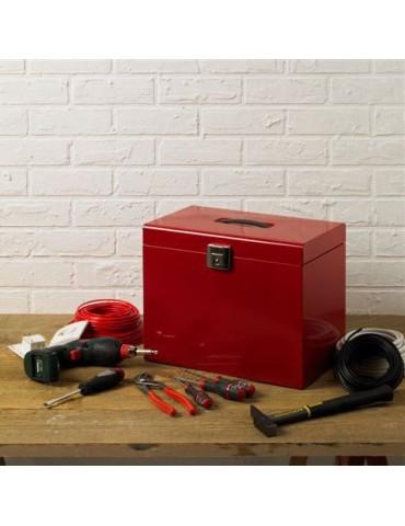 Boîte de rangement métal rouge 28.5x22cm SAFE DRA4007111Pierre Henry