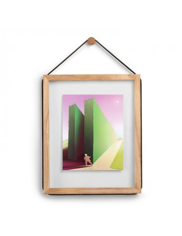 Cadre photo mural en bois avec corde ajustable 31.8x38.7x1.9cm CORDA DCA4374043Umbra