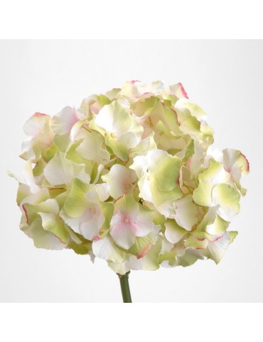 Fleur artificielle d'hortensia blanche/rose H.47cm NATURE DFL3208326Amadeus