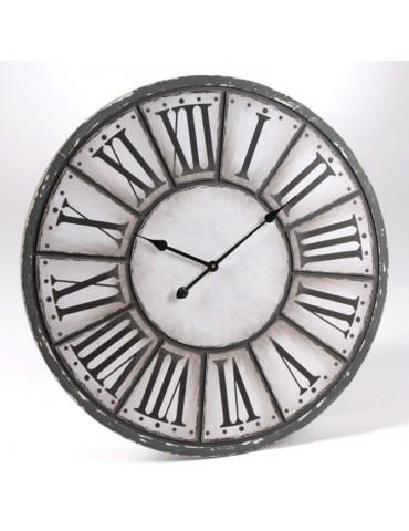 Horloge grise et blanche avec chiffres romains D.80cm OSCAR DHO6033446Amadeus