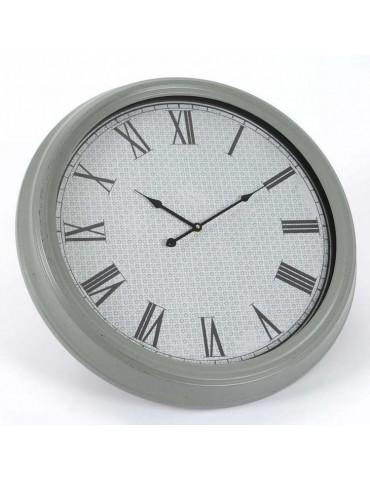 Horloge murale ronde en métal et verre grise D.62cm DANDYSME DMI3343121Amadeus