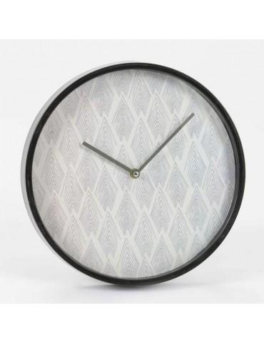 Horloge murale ronde en plastique noire et blanche D.30cm NORVEGE DHO3343133Amadeus