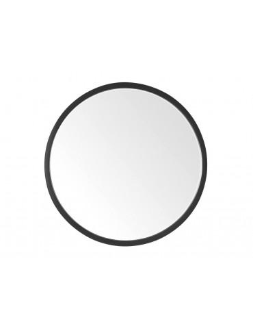Miroir effet biseauté mural rond métal noir D.60cm WHOO DMI3847000Delamaison