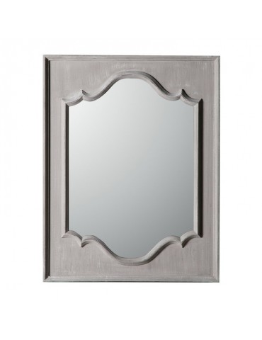 Miroir rectangulaire en bois paulownia moulure centrale taupe 70x90cm OSCAR DMI4358009Delamaison